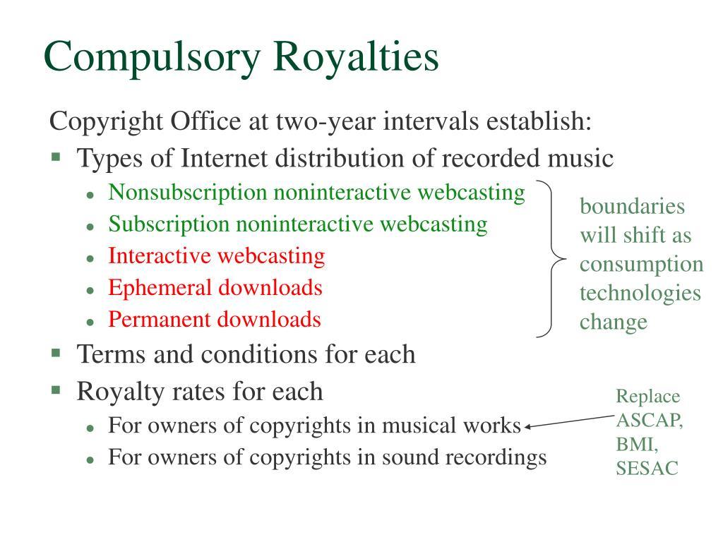 Compulsory Royalties