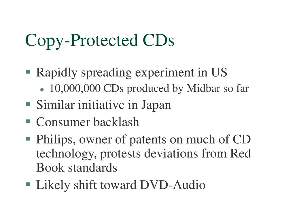 Copy-Protected CDs