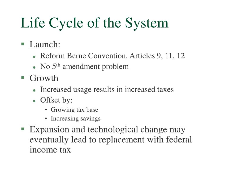 Life Cycle of the System