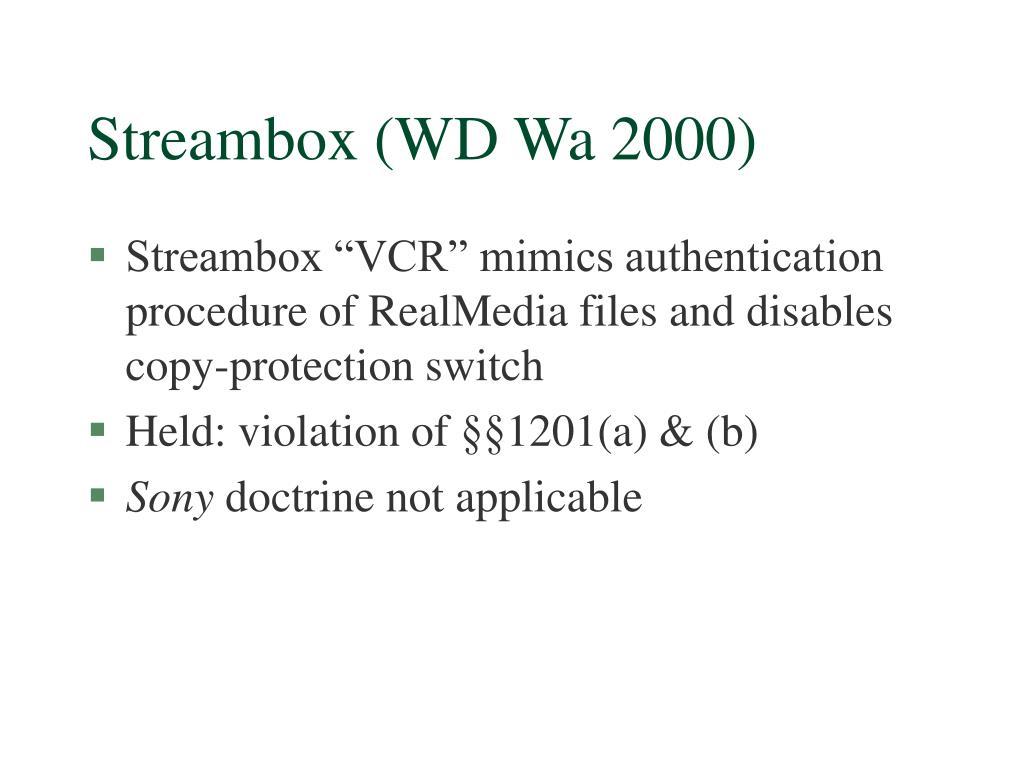 Streambox (WD Wa 2000)