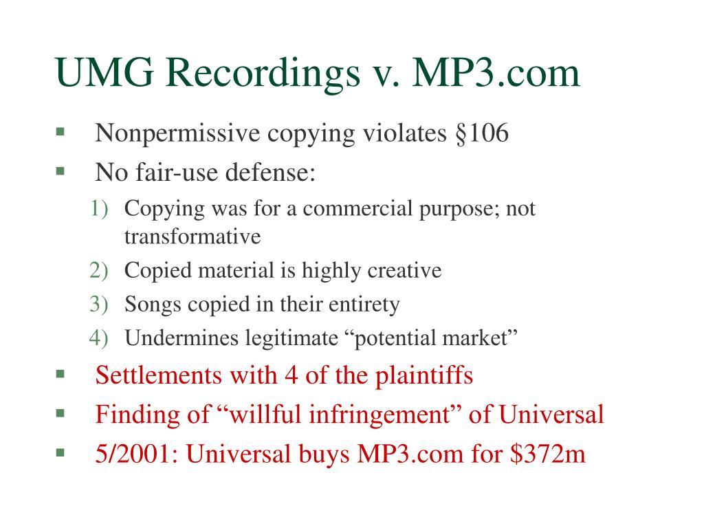 UMG Recordings v. MP3.com