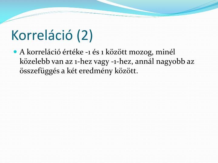 Korreláció (2)