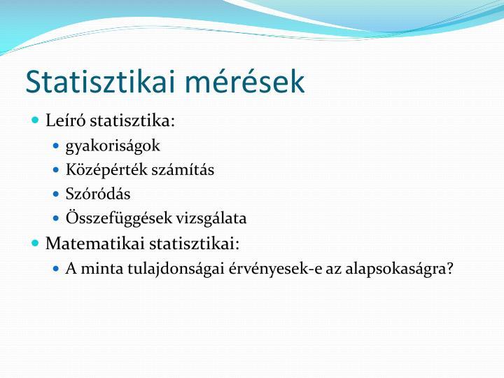 Statisztikai mérések