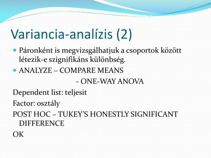 Variancia-analízis (2)