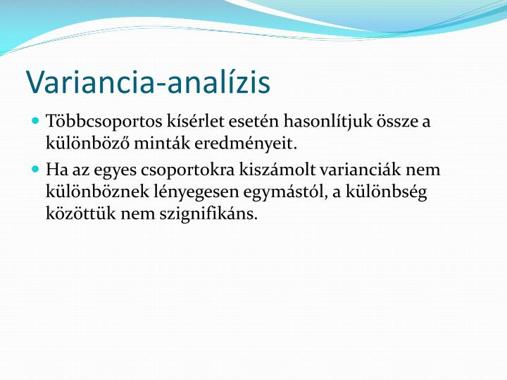 Variancia-analízis