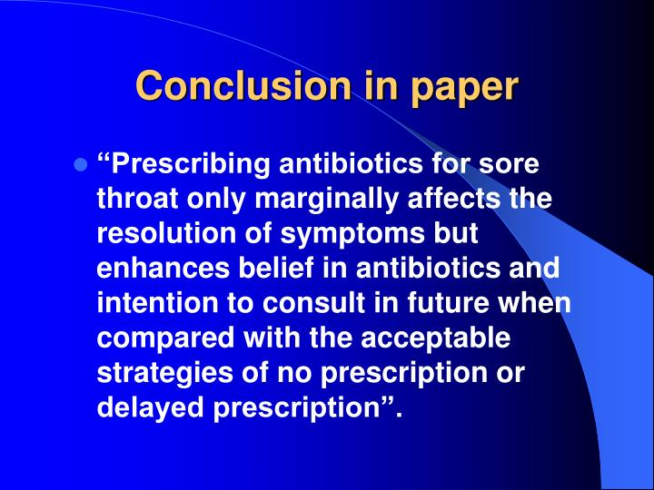 Conclusion in paper