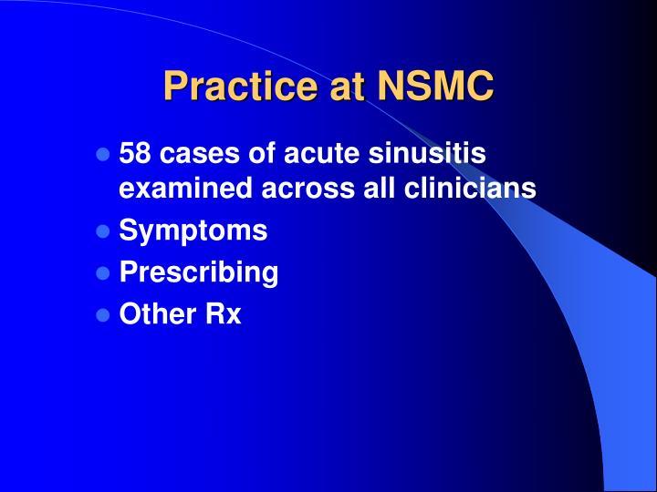 Practice at NSMC
