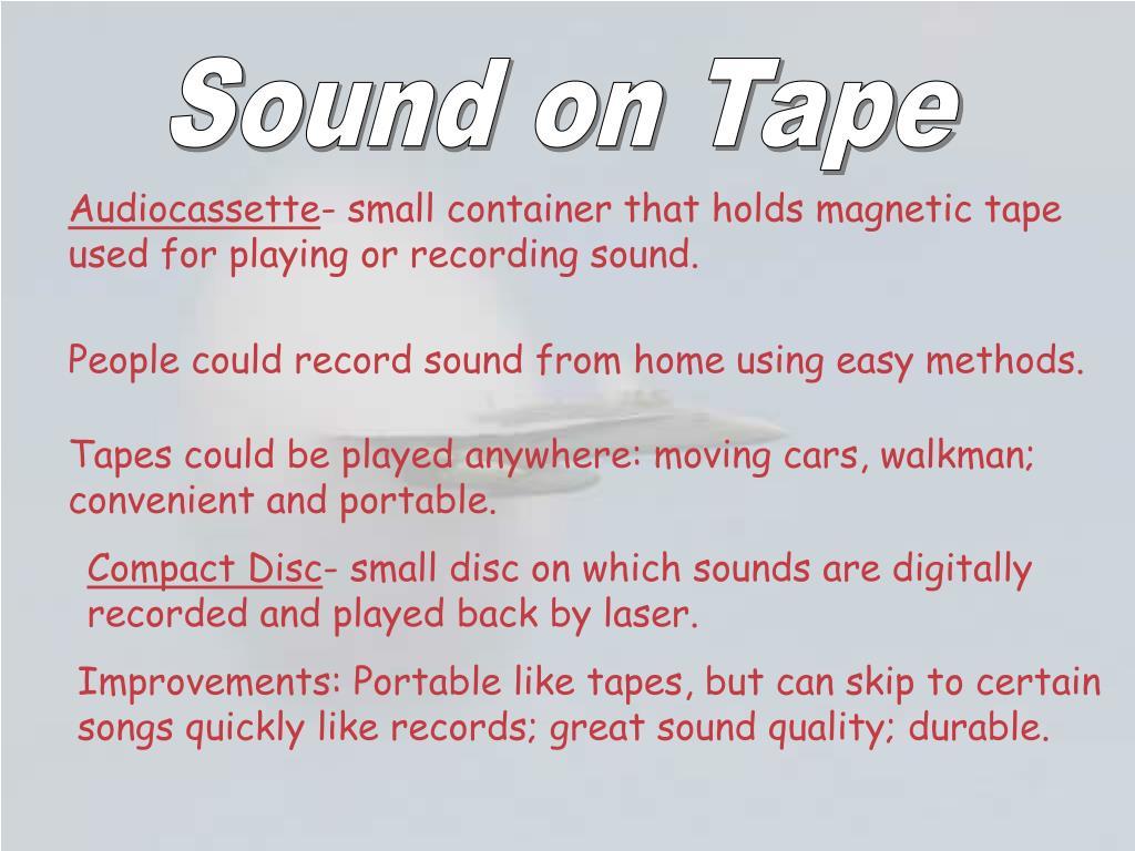 Sound on Tape
