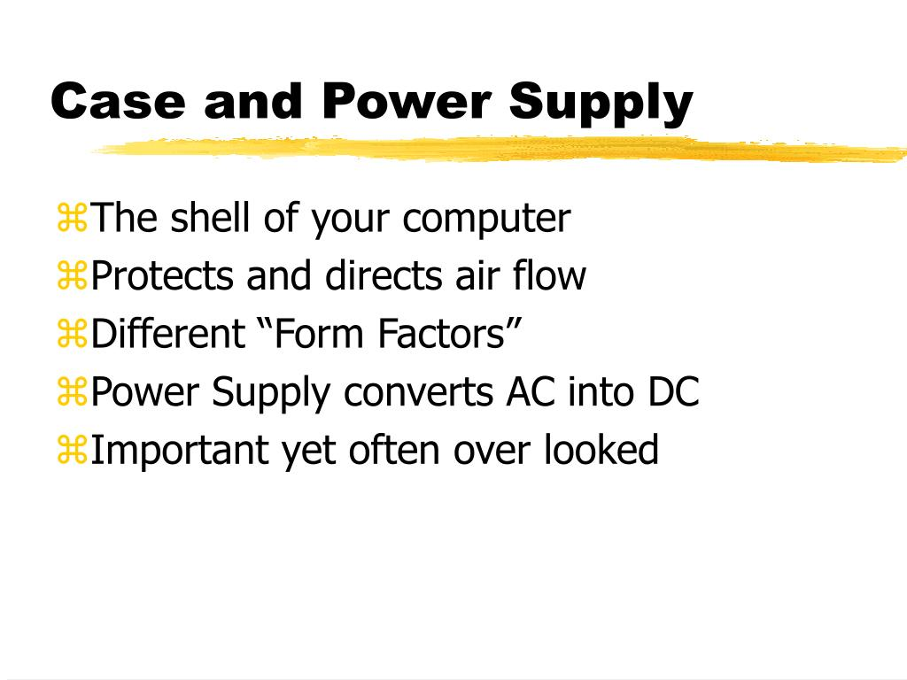 Case and Power Supply
