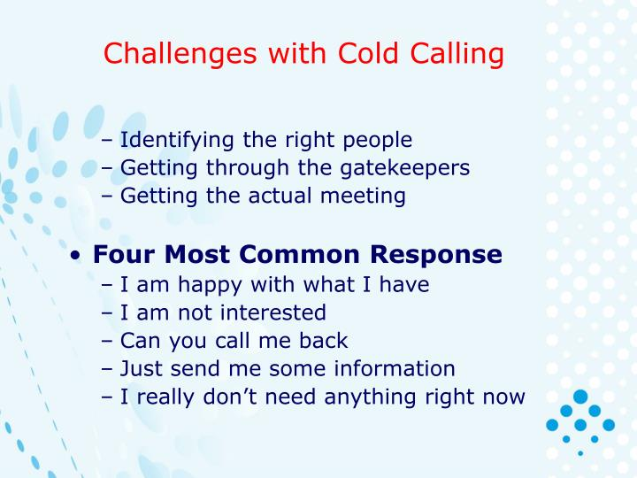 Challenges with Cold Calling