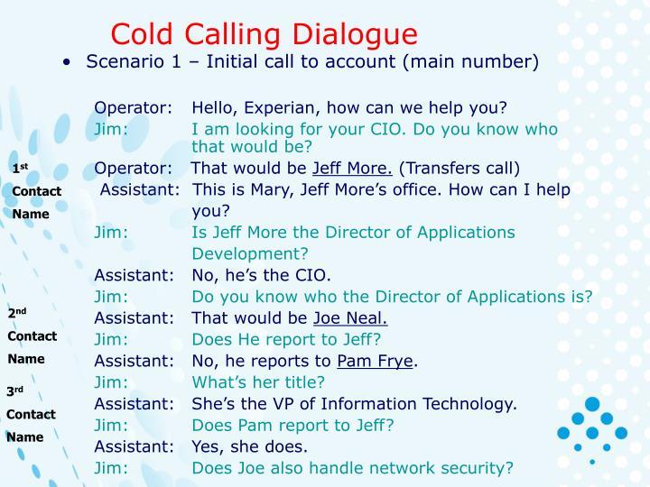 Cold Calling Dialogue