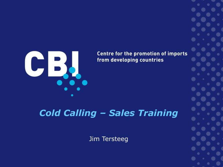 Cold Calling – Sales Training
