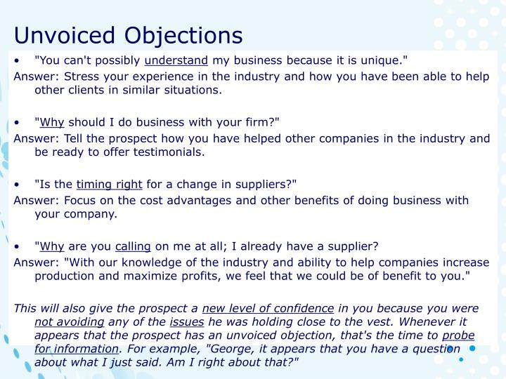 Unvoiced Objections