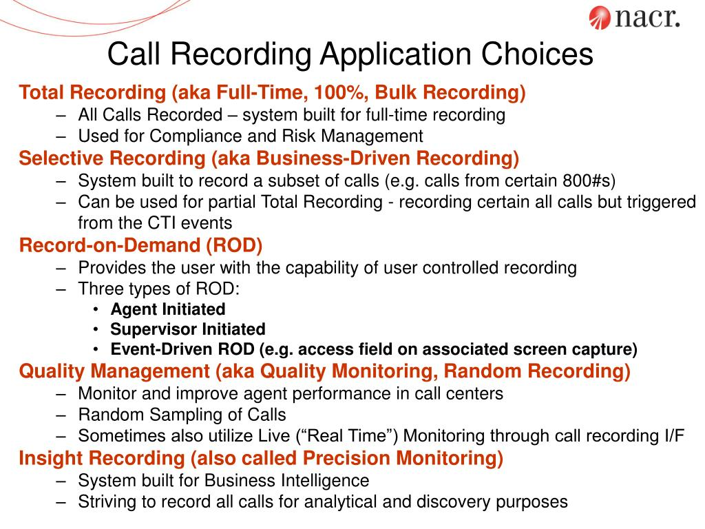 Call Recording Application Choices