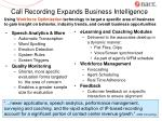 call recording expands business intelligence