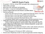 nacr quick facts