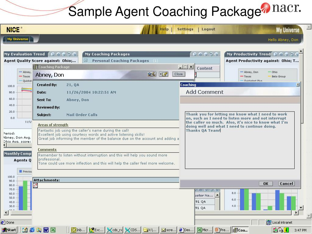 Sample Agent Coaching Package