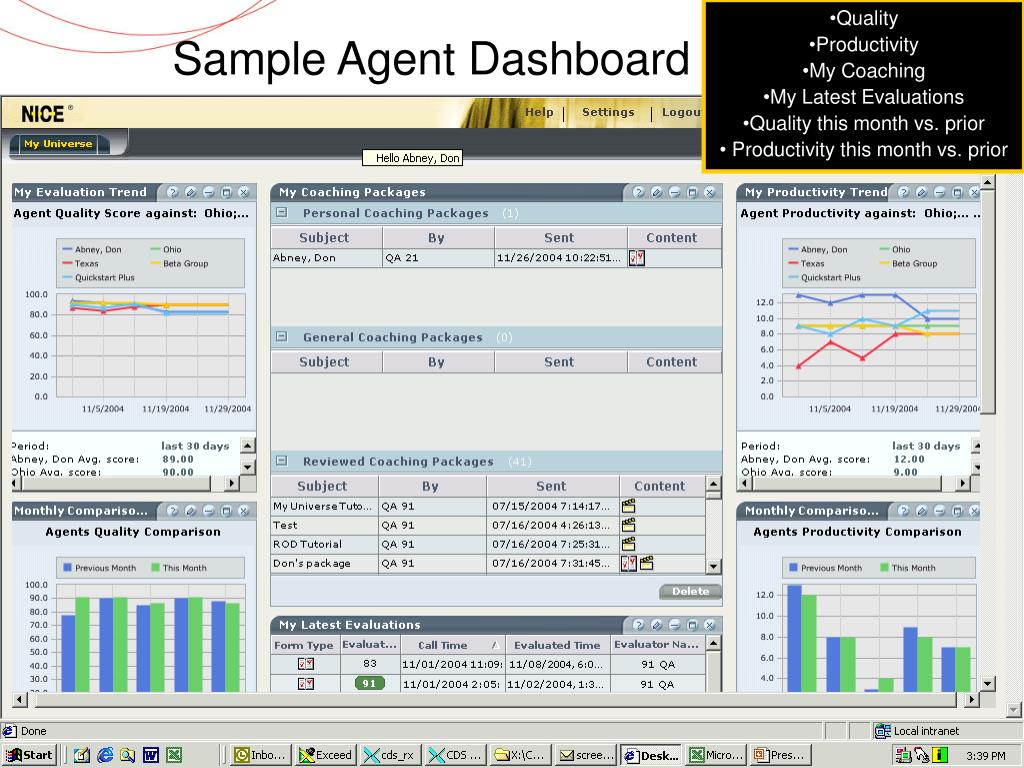 Sample Agent Dashboard