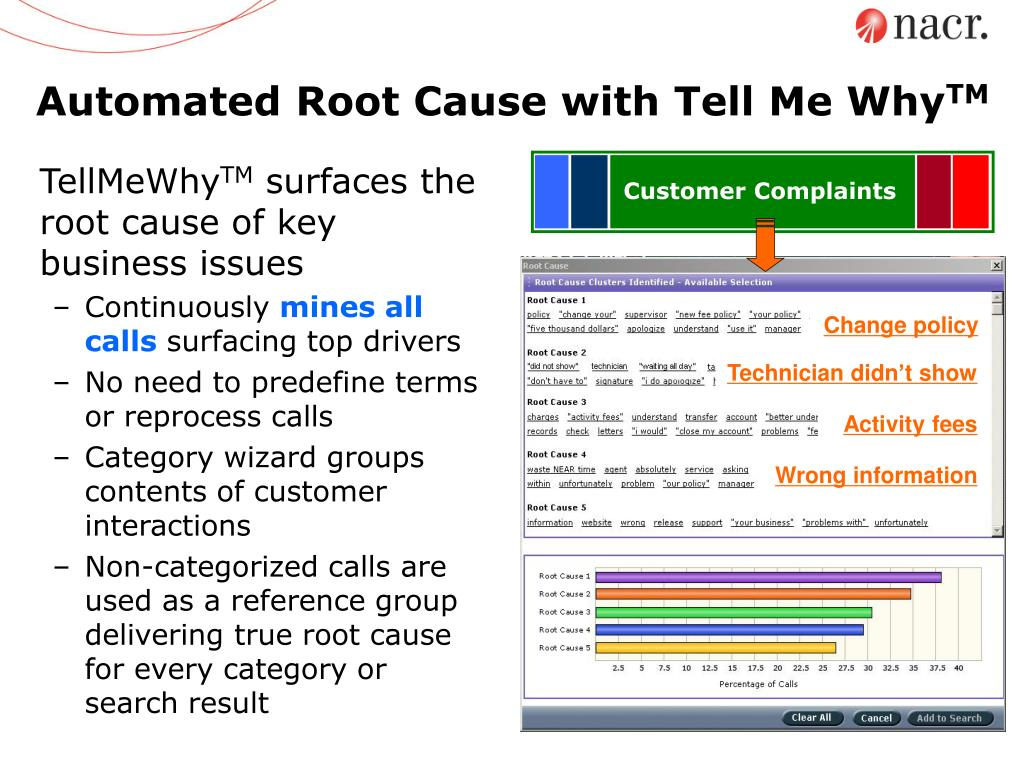 Automated Root Cause with Tell Me Why