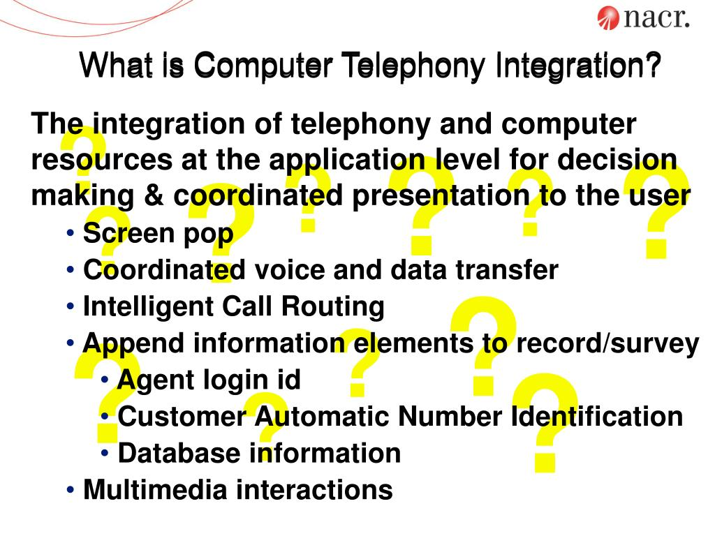 What is Computer Telephony Integration?