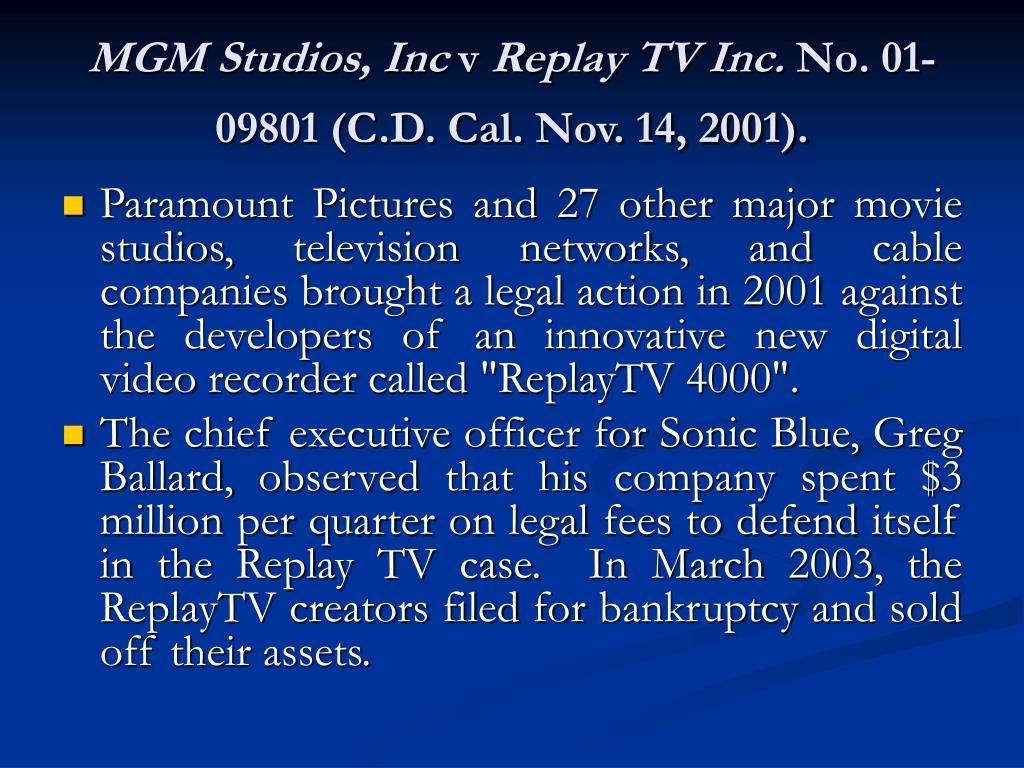 MGM Studios, Inc