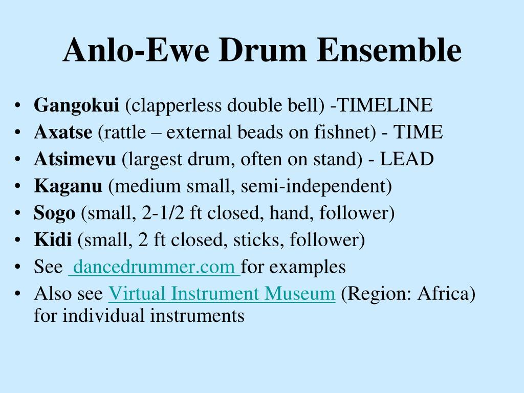 Anlo-Ewe Drum Ensemble
