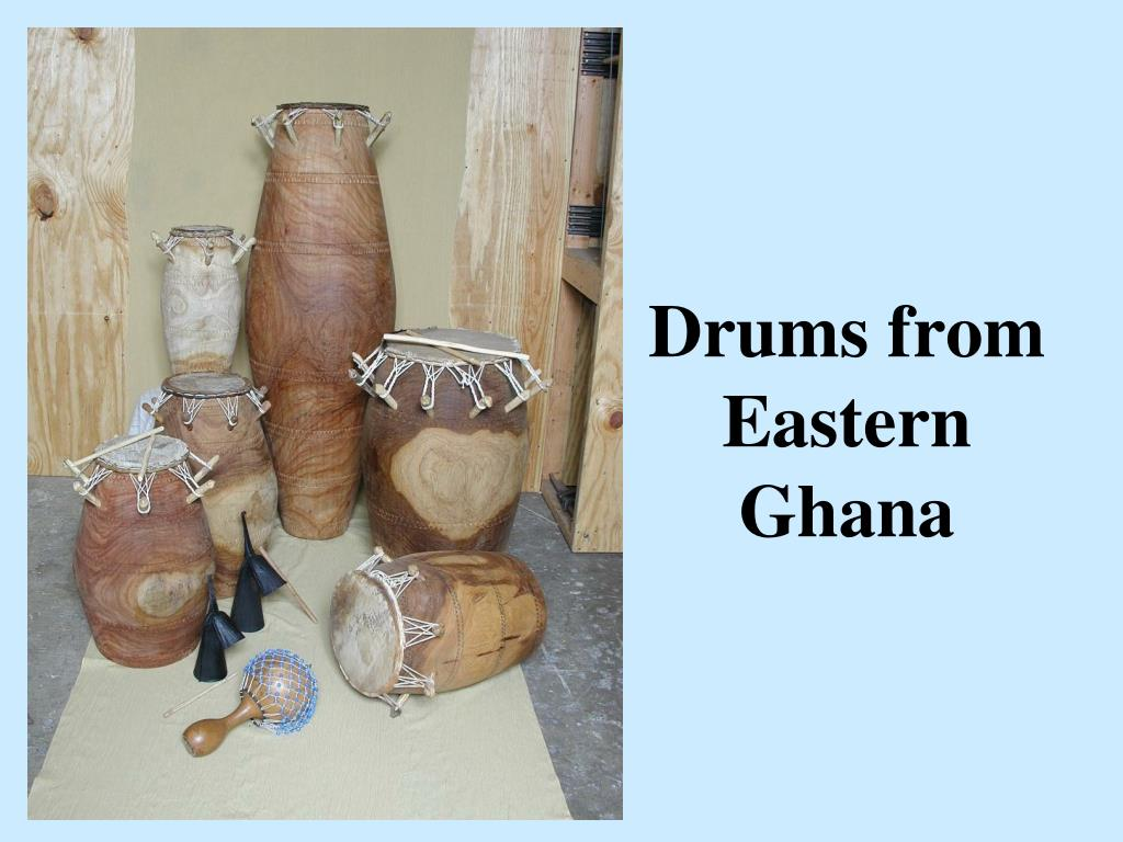 Drums from Eastern Ghana