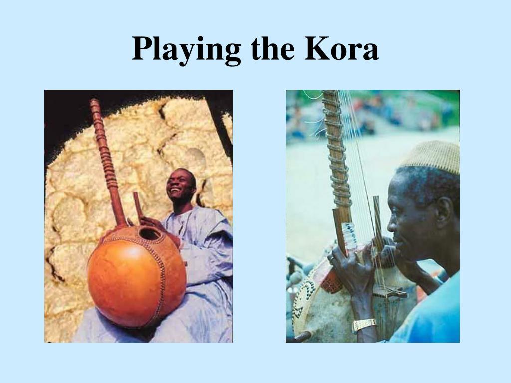 Playing the Kora