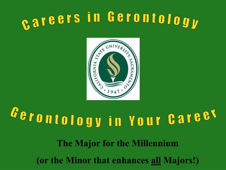 Careers in Gerontology