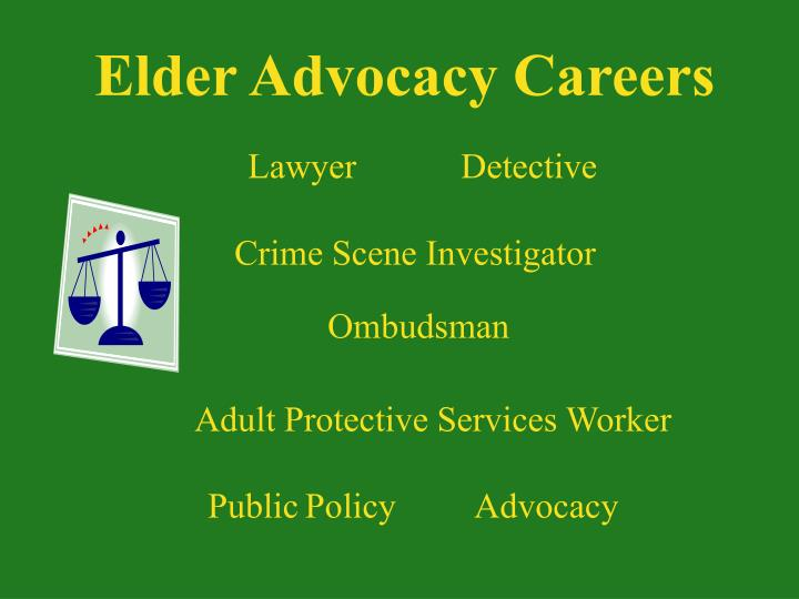 Elder Advocacy Careers
