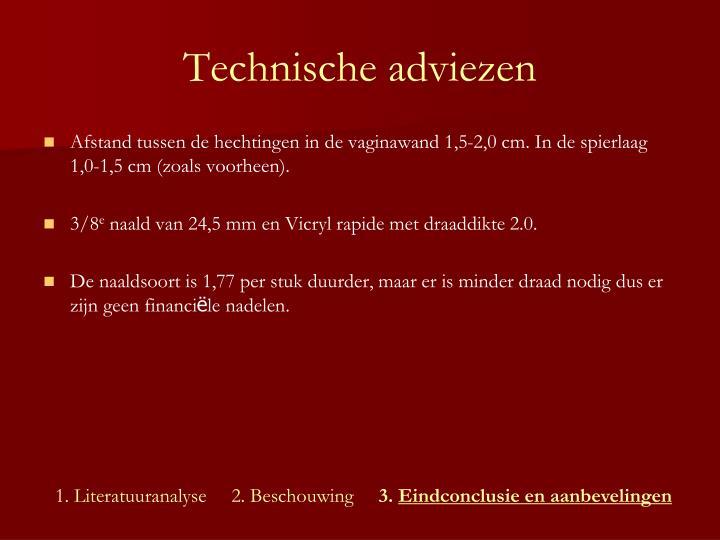 Technische adviezen