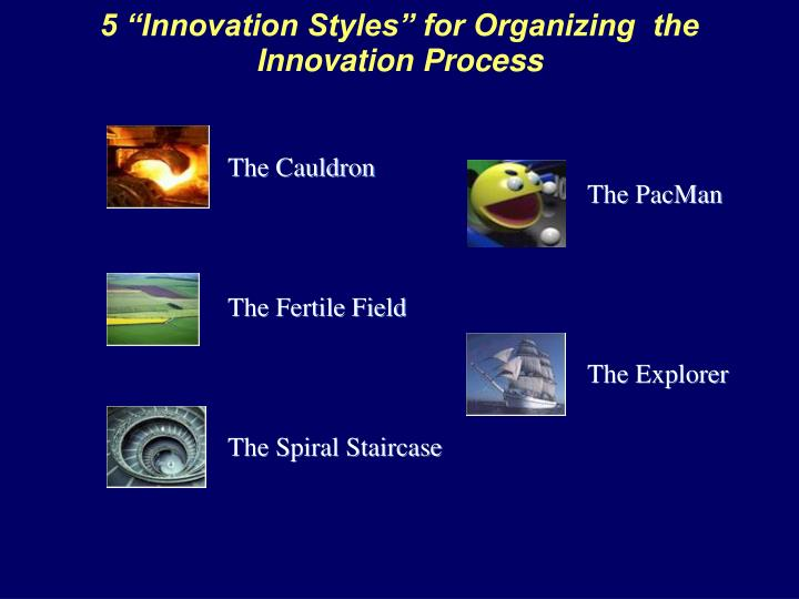 5 innovation styles for organizing the innovation process