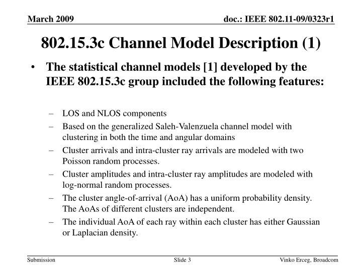 802.15.3c Channel Model Description (1)