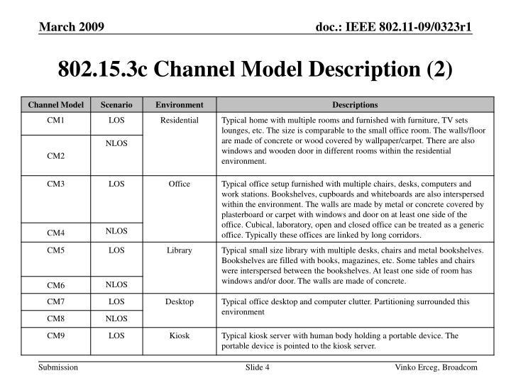 802.15.3c Channel Model Description (2)