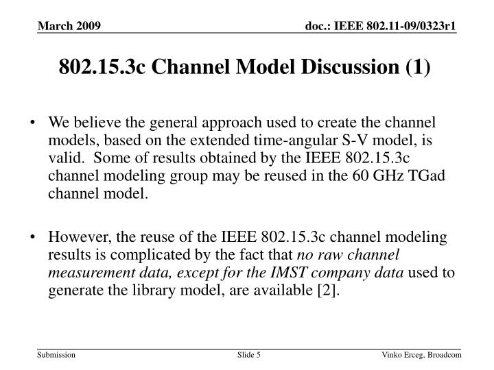 802.15.3c Channel Model Discussion (1)