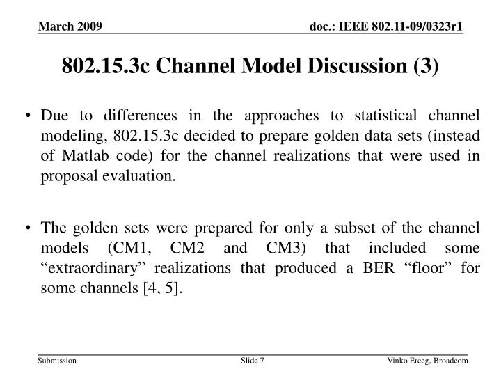 802.15.3c Channel Model Discussion (3)