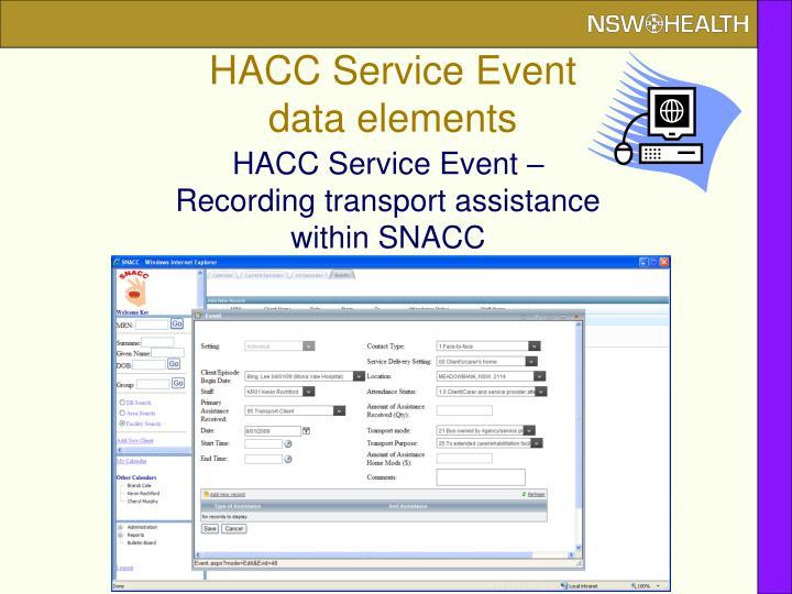 HACC Service Event