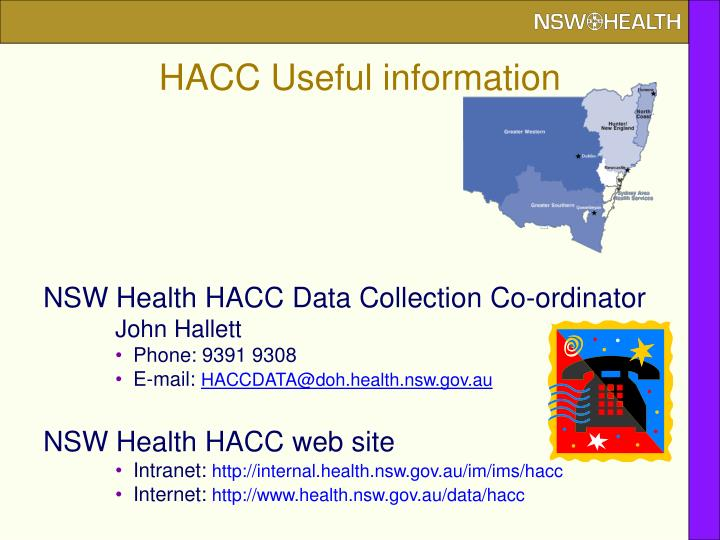 HACC Useful information