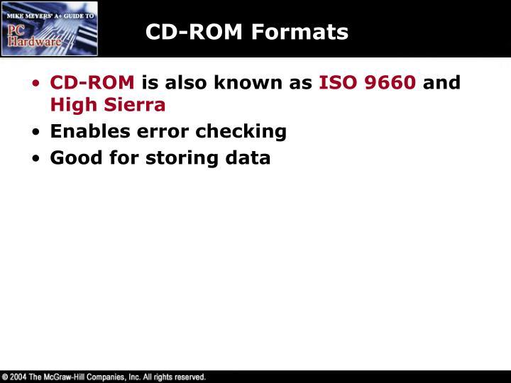 CD-ROM Formats