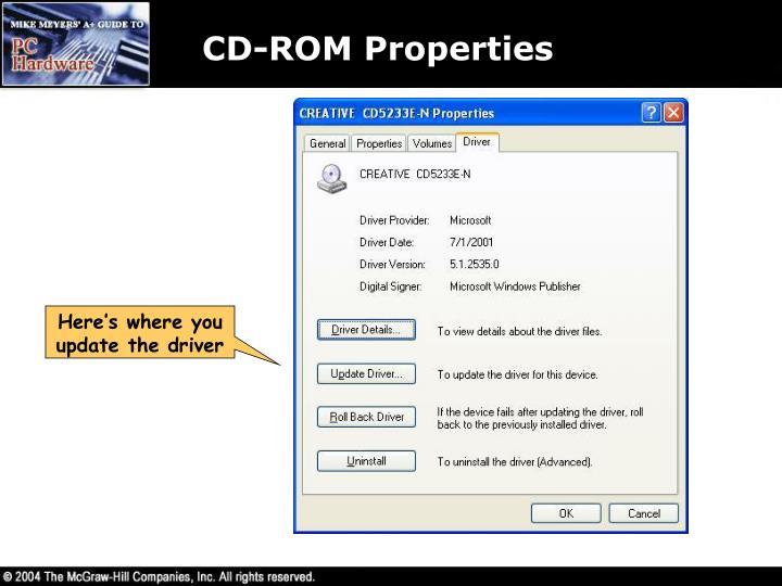 CD-ROM Properties