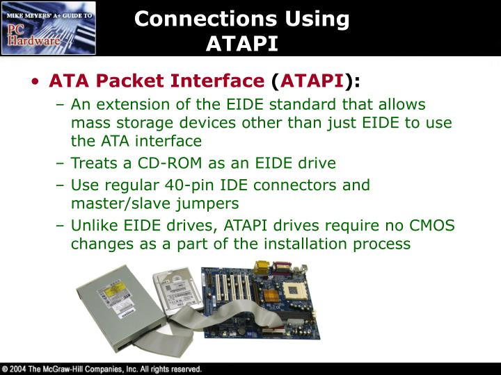 Connections Using ATAPI