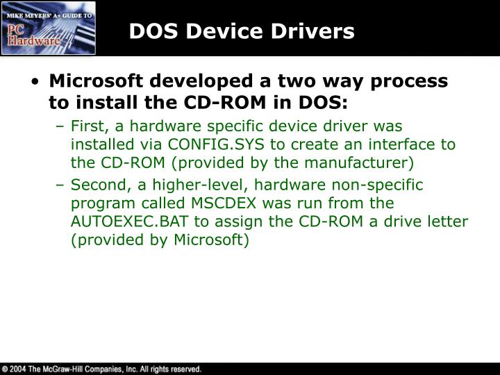 DOS Device Drivers