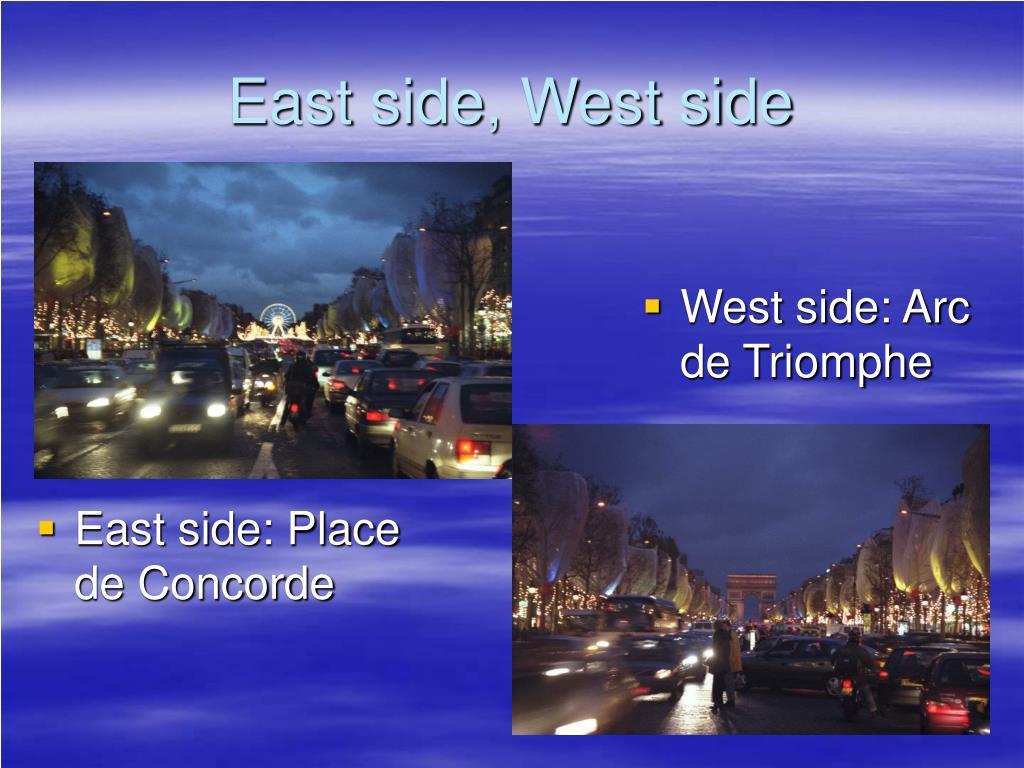 East side: Place de Concorde
