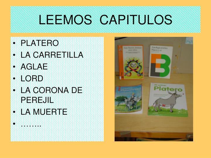 LEEMOS  CAPITULOS