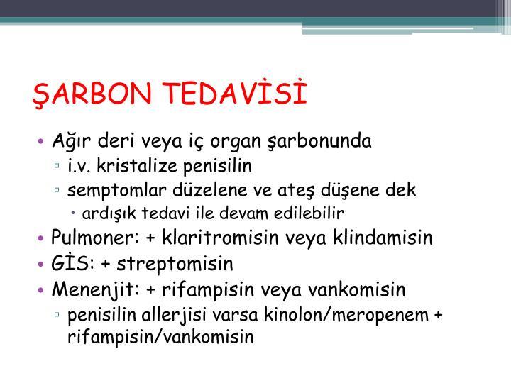 ŞARBON TEDAVİSİ