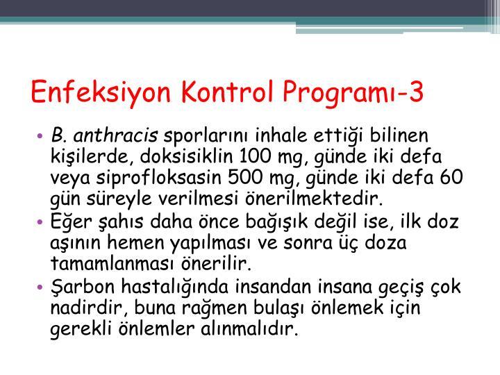 Enfeksiyon Kontrol Programı-3