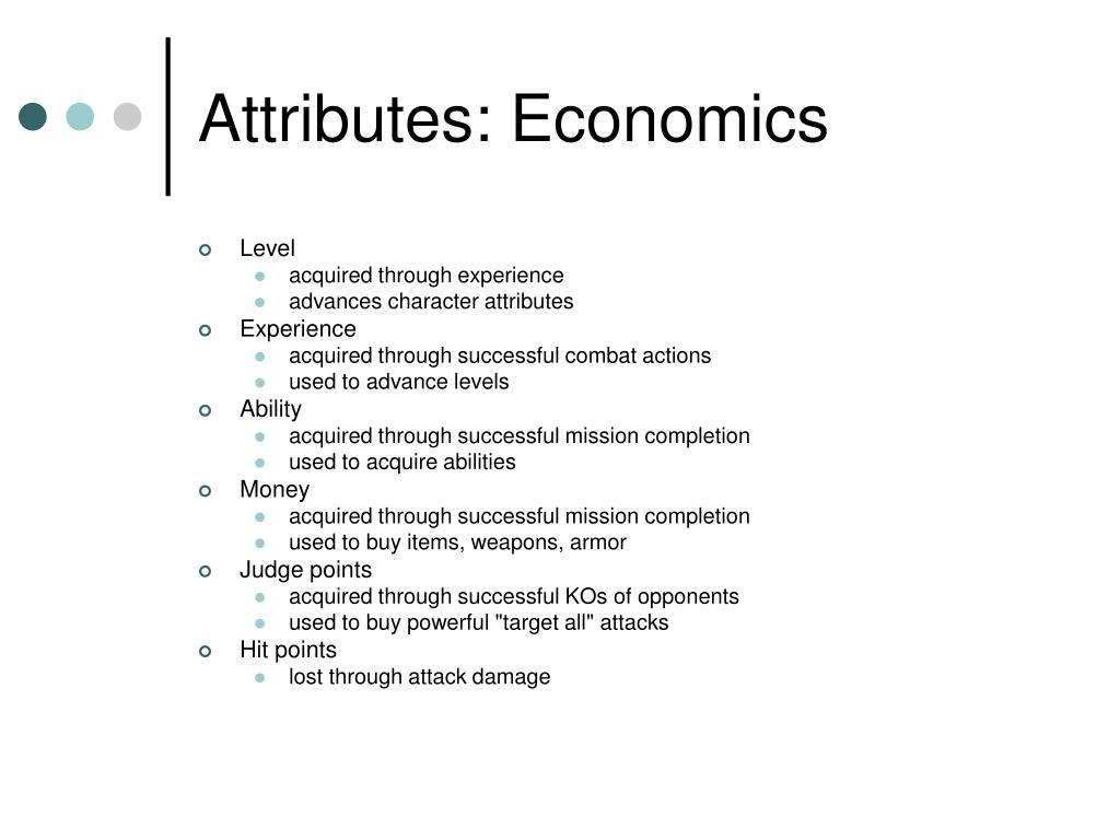 Attributes: Economics