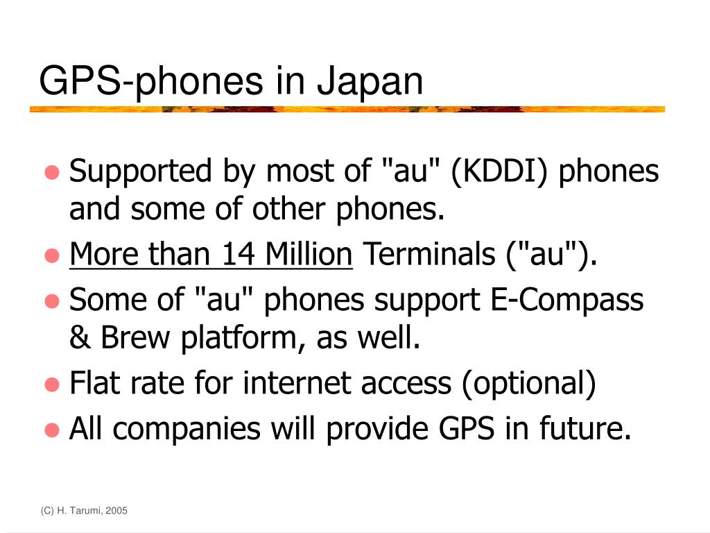 GPS-phones in Japan