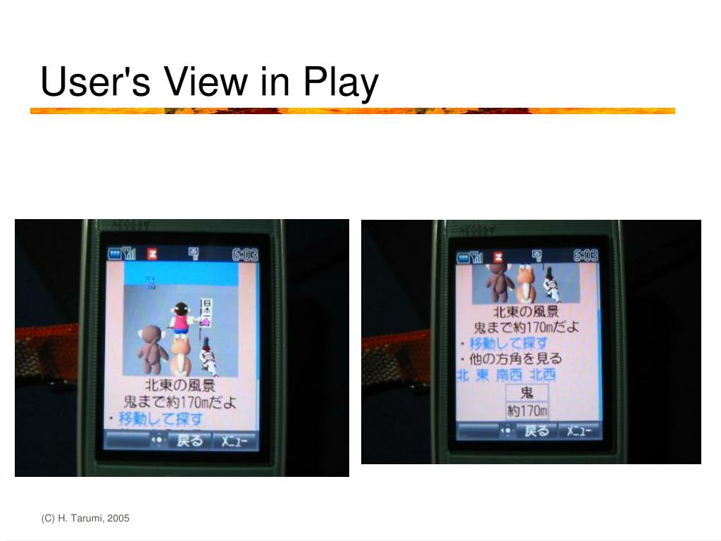 User's View in Play
