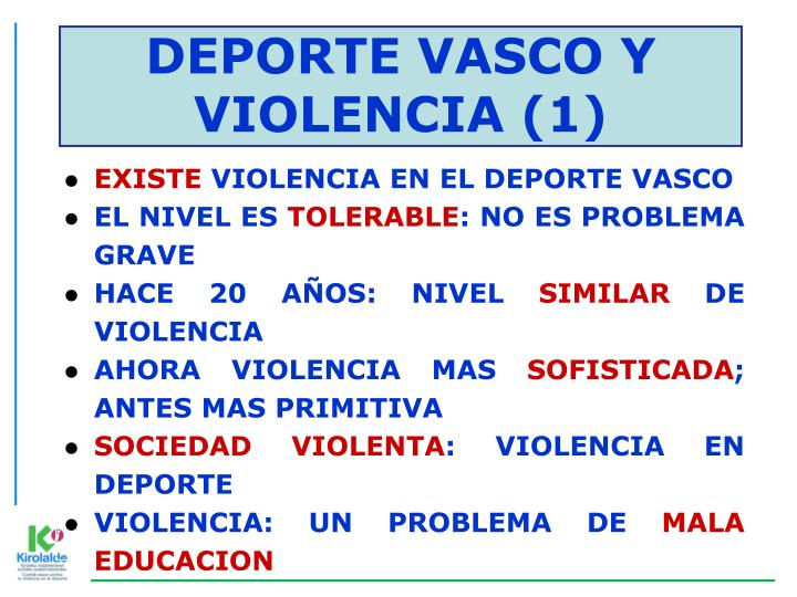 DEPORTE VASCO Y VIOLENCIA (1)